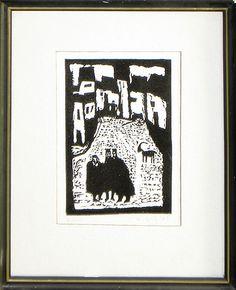 """Jerzy Duda Gracz   Z cyklu """"Judaica"""", 1964     15.5 x 9.8 cm"""