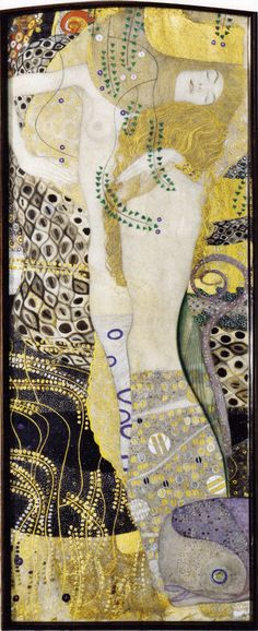 Gustav Klimt Poster Wasserschlangen I Freundinnen
