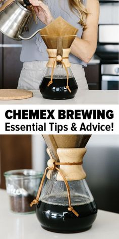 Learn how to brew coffee in your Chemex! Watch my quick Chemex video and find easy instructions, tips on filters and the simple way to clean your Chemex. Cappuccino Maker, Cappuccino Machine, Espresso Maker, Espresso Coffee, Percolator Coffee Maker, Beer Brewing Kits, French Press Coffee Maker, Great Coffee, Coffee Drinks