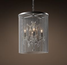 """Vaille Crystal Chandelier 17"""" - ?over the tub"""