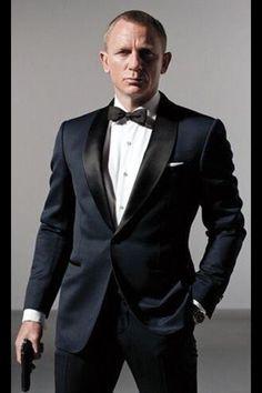 Daniel Craig with a tuxedo- No wonder he was cast as #JamesBond.