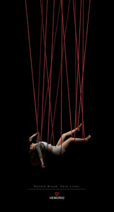 Save Lives' for Hemorio by Binder Visão Estratégica. - place in the Solidarity theme - Conceptual Photography, Dark Photography, Creative Photography, Blood Donation Posters, Don Du Sang, Instalation Art, Wattpad Book Covers, Rope Art, Creative Advertising