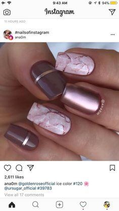 marble and metallic nails! - #nailartgalleries #nail #art #galleries