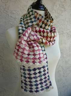 The Diamond Exchange Crochet Scarf PATTERN / PDF by MichelleBlohm