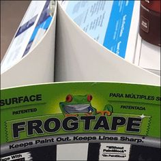 Tree rectangular Header cards push-pin together in a way that under tension creates a three-dimensional Tricorne Header for this Frog Tape® table-top Spinner. If you can think of a simpler, cheaper… Duck Tape, Three Dimensional, Header, Signs, Button, Create, Table, Cards, Top