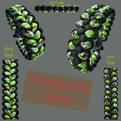 Dragon's Claw Paracord Bracelet Designs, Paracord Knots, Paracord Ideas, Paracord Projects, Paracord Bracelets, How To Make Leather, Dragon Claw, Lanyards, Diy Jewelry