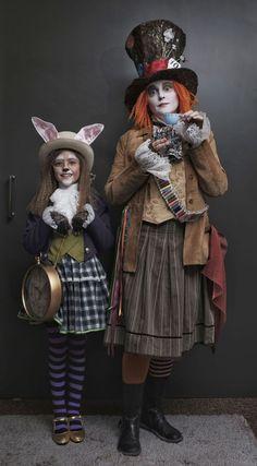 White Rabbit and Hatter - #Hatter #Rabbit #White
