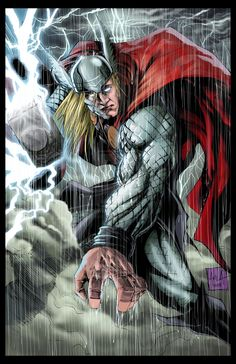 Thor 2014 Colors by hanzozuken Marvel Fan Art, Marvel Vs, Marvel Heroes, Marvel Characters, Comic Book Artists, Comic Artist, Comic Books Art, Thor Tattoo, The Mighty Thor