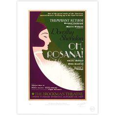 'Oh Rosana!' Broadway Poster - MinaLima Store
