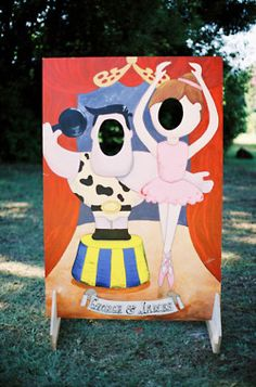Carnival reception pic idea. love this. with the idea of vintage outdoor games