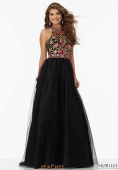 Mori Lee Beaded A Line Dress 99093