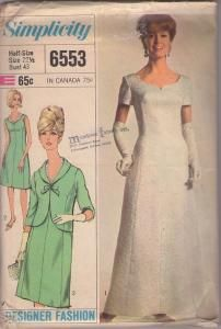 1960s Sweetheart Neckline w/Jacket