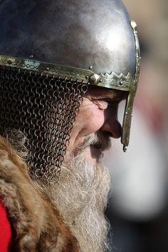 Scenes from the Viking re-enactment battle in the Museum Gardens, York Viking Helmet, Viking Warrior, Viking Age, Men Dress Up, Larp Armor, Armor Clothing, Viking Culture, Viking Symbols, Fantasy Male