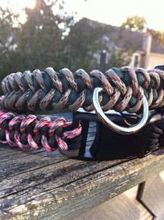 Camo Paracord Dog Collar by CJWOODCRAFTS on Etsy, $11.00