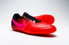 Nike FC247 Elastico II Indoor Soccer Shoes - Total Crimson with Black...Available at SoccerPro Now!