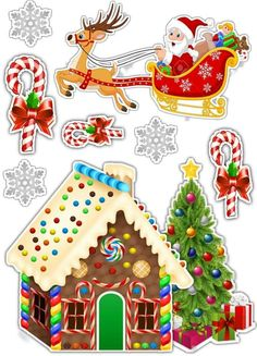 Natal Christmas Templates, Christmas Clipart, Christmas Stickers, Christmas Printables, Christmas Scenes, Christmas Art, Christmas Ornaments, Diy Birthday Decorations, Christmas Decorations
