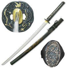 Black Dragon Battle Ready Samurai Sword