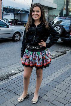 Aos 12 anos, Maisa Silva é clicada com visual diferente em São Paulo - Yahoo Celebridades Brasil Looks Teen, Teenage Girl Outfits, Princesas Disney, Teen Fashion, Stylish Outfits, Boho Shorts, Ideias Fashion, Dj, Short Dresses