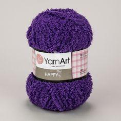 Pletací příze YarnArt HAPPY 780 fialová, fantasy 100g/175m Winter Hats, Fantasy, Fantasy Books, Fantasia