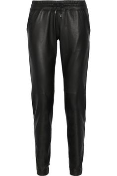 Lot78 Leather track pants (for more things drawstring --> http://chicityfashion.com/drawstring-pants/)