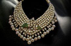 Kundan peacock Necklace Set with Seathrow Pearls Kundan Jewellery Set, Kundan Set, Indian Jewellery Design, Indian Jewelry, Jewelry Design, Stylish Jewelry, Fashion Jewelry, Peacock Necklace, Ahmedabad
