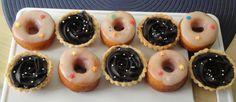 - Doughnuts with Tarts Calzone, Doughnuts, Tarts, Quiche, Bakery, Birthdays, Cupcakes, Desserts, Food