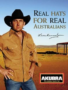 AKUBRA HATS Vintage Tin Sign 30 X 45 cm Stick to Akubra Hats