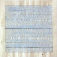 Agnes Martin  Untitled, early 1980s. Watercolor. 11 x 11 inches