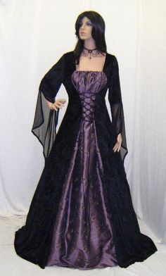 df9546fbdf6 medieval handfasting dress renaissance pagan wiccan wedding custom.   189.00