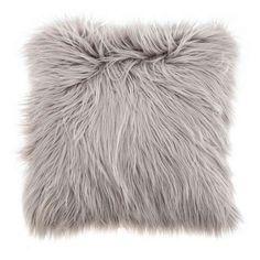 Faux Fur Grey Cushion | Dunelm