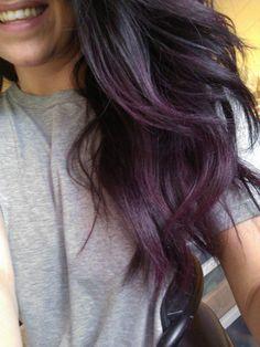 subtle purple hair | Subtle purple ombre