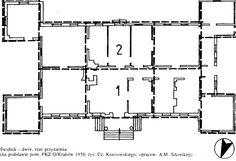 PLAN, Dwór w Świdniku, XVIII wiek Dwór ten należy do jednej z odmian dworów alkierzowych, charakteryzującej się alkierzami wysuniętymi przed elewacje. Taki typ dworu polskiego, stosowany do XIX wieku wykształcił się w okresie odbudowy kraju po pierwszym najeździe szwedzkim.