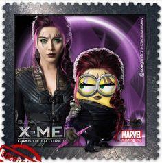 X-Men Day of future Past Minion - Blink (Clarice Ferguson) Amor Minions, Minions Cartoon, Minions Love, Minions Despicable Me, Minions Quotes, Hero Movie, 2 Movie, Minion Dress Up, X Men