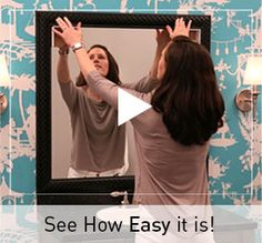 Frame A Bathroom Mirror In Minutes With MirrorMateu0027s Custom Mirror Frame Kit .