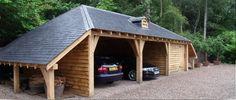 гараж навес деревянный