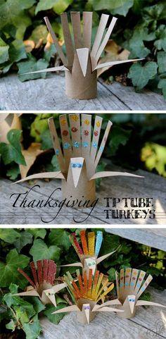 トイレットペーパーの芯でつくるクジャク。TP Tube Turkeys