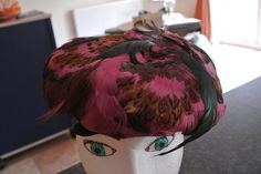 VINTAGE Feather Multi Coloured Hat by MITZI Boutique of London