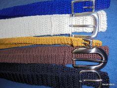 Hobby-moje własnoręczne robótki:  szydełkowe paski //Hobby-my own handwork: crocheted strips