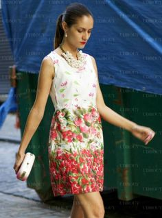 Ruxandra Ioana In Floral Printed Slim Dress $59, http://www.udobuy.com/goods-12574.html#.Ue8rf9KBlhc