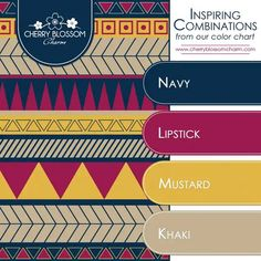 ⚜️⚜️ Inspiring Color Combinations: Navy, Pink, and Yellow (Fall Colors 2014) ❇️ Charming Printables