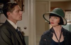 Jack and Phryne from the season 3 episode 'Death and Hysteria'. Miss Fisher's Murder Mysteries.