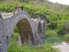 The famous three-arched stone Bridge at Kipi village