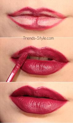 quick and simple trick on how to make your lips look a bit more full and bigger.