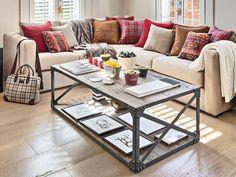 Añade un toque Factory Style... Mesa de centro de diseño industrail.