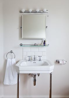 Pictures In Gallery Victorian washstand from Burlingtons mirror from Samuel Heath taps from Lefroy Brooks