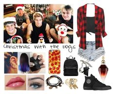 """5sos: christmas with the boys"" by luke96hemmings ❤ liked on Polyvore featuring Boohoo, Converse, Elizabeth and James, Forever 21, women's clothing, women, female, woman, misses and juniors"