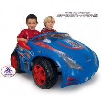 injusa kids 12 volt battery operated electric amazing spiderman ride on car this childrens injusa amazing