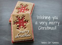 Wishing you a Merry Christmas! Cookie by Yankee Girl Yummies