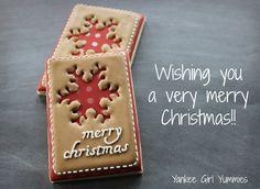 Wishing you a Merry Christmas! Cookie by Yankee Girl Yummies