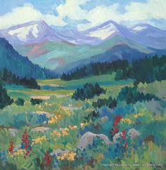 """Summer on the Slate River Road by Laura Reilly Acrylic ~ 24"""" x 24"""""""